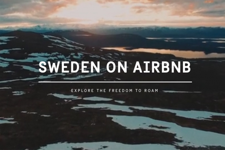 Sweden Tourism Boards lists entire country on Airbnb