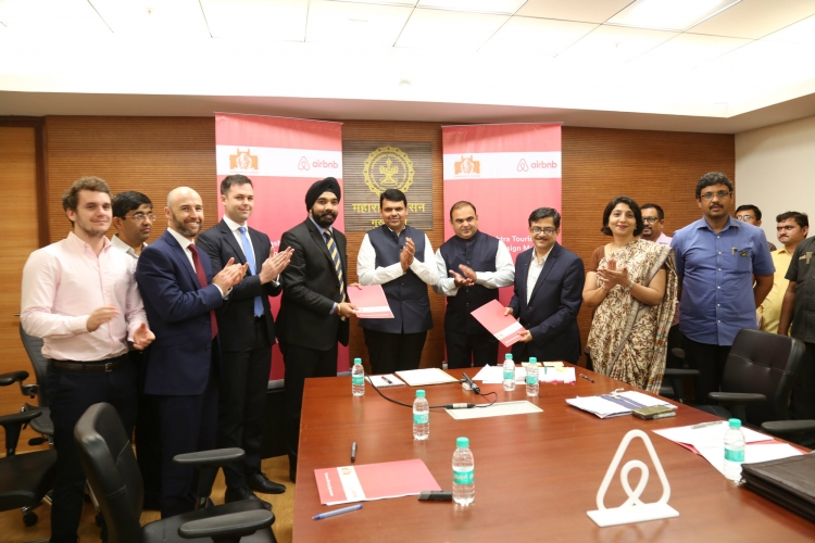 Airbnb signs MoU with Maharashtra Government in the presence of Devendra Fadnavis, Chief Minister, Government of Maharashtra