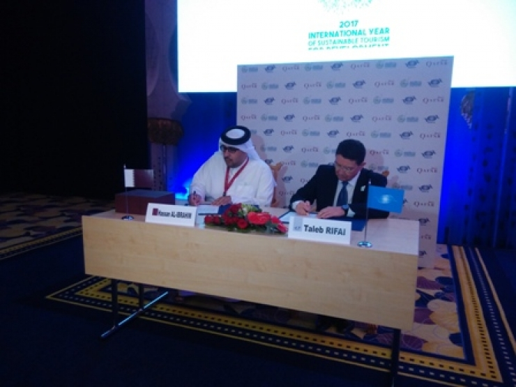 UNWTO signs MoU with Qatar